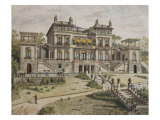 Castle Near Stuttgart, Garden Front, Illustration from 'Le Moniteur Des Architectes', 1881 Giclee Print by Georges Felix Garen