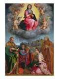 Madonna in Glory with Four Saints Giclée-tryk af Andrea del Sarto