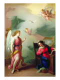 The Annunciation (panel) Giclée-Druck von Giuseppe Velasco