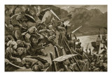 Crusaders Storming Nicaea Giclee Print by Stanley L. Wood
