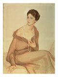 Portrait of Vanda Weiner, 1916 Giclee Print by Savelij Abramovich Sorin