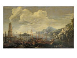Harbour with Lighthouse and Ships Giclee Print by Salvator Rosa