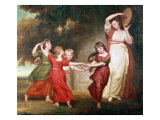 The Gower Family Giclee Print by George Romney