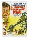 Bridge on the River Kwai, Spanish Movie Poster, 1958 Digitálně vytištěná reprodukce