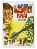 Bridge on the River Kwai, Spanish Movie Poster, 1958 Premium Giclee Print