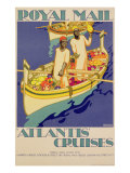 Poster advertising Royal Mail, 'Atlantis' Cruises, printed by the Baynard Press, c.1930 Giclee Print by Kenneth Shoesmith