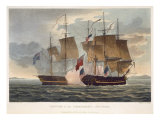 The Capture of Chesapeake, June 1st 1813, engraved by Bailey for J. Jenkins's 'Naval Achievements' Giclee Print by Thomas Whitcombe