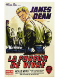 Rebel Without a Cause, French Movie Poster, 1955 Reprodukce