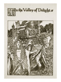 In the Valley of Delight, illustration from 'The Story of King Arthur and his Knights', 1903 Giclee Print by Howard Pyle