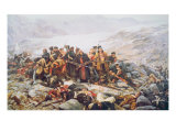 The Last Stand of the 44th Regiment at Gundamuck during the Retreat from Kabul, 1841, 1898 Giclee Print by William Barnes Wollen