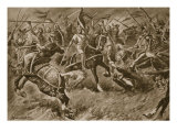 Alphonso of Aragon Leads an Army Against the Moors Giclee Print by B. Granville-Baker
