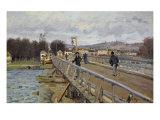 Footbridge at Argenteuil, 1872 Giclee Print by Alfred Sisley