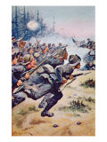 General Pickett's Ill-fated Confederate Charge, Battle of Gettysburg, 1863 Giclee Print by Stanley L. Wood