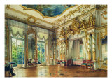Bedroom of Tsar Alexander I in the Alexander Palace, Tsarskoye Selo, 1855 Giclee Print by Luigi Premazzi