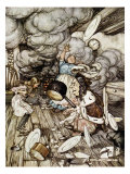 In the Duchess's Kitchen, Illustration to 'Alice's Adventures in Wonderland' by Lewis Carroll Giclee Print by Arthur Rackham