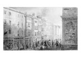 The Strand from the Corner of Villiers Street, 1824 Giclee Print by George The Elder Scharf