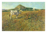 Pasture in Pietramala Giclee Print by Telemaco Signorini