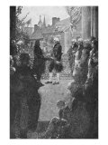 The Inauguration, Engraved by Francis Scott King, Illustration from 'Washington's Inauguration' by  Giclee Print by Howard Pyle