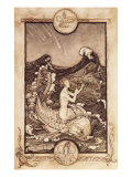 Mermaid and Dolphin from &#39;A Midsummer Night&#39;s Dream&#39;, 1908 Giclee Print by Arthur Rackham