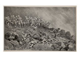 The Great Assault on Ladysmith: the Devons Clearing Wagon Hill Giclee Print by William T. Maud