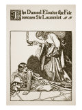 Damsel Elouise the Fair Rescues Sir Launcelot, for 'The Story of Sir Launcelot and His Companions' Giclee Print by Howard Pyle