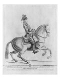 The Chevalier d'Eon as a Dragoon, 1779 Lámina giclée por Robin De Montigny