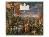 The Doge Andrea Contarini Returning Victorious from Chioggia Giclee Print by Paolo Veronese