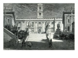 Facade of the Senatorial Palace, Rome Giclee Print by Emile Theodore Therond