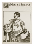 Sir Mador De La Porte, Illustration from 'The Story of the Grail and the Passing of Arthur', C.1910 Giclee Print by Howard Pyle