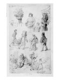 London Street Vendors: the Cries of London, 1843 Giclee Print by George The Elder Scharf