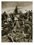 The Last Stand of De Montfort at Evesham, Illustration from 'Hutchinson's Story of British Nation' Giclee Print by Richard Caton Woodville