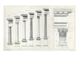 Architecture I: Orders of Architecture, engraved by Charles Lawrie Reproduction procédé giclée par John Burley Waring