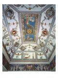 The 'Camera con Fregio di Amorini' Giclee Print by Giulio Romano