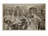 Capture of Boer Convoy by General French's Troops Near Kimberley Giclee Print by Stanley L. Wood