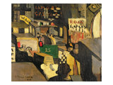 Barcelona street scene, 1917 Giclee Print by Joaquin Torres-garcia