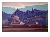 Burial Mound, Ladakh, 1937 Giclee Print by Nikolai Konstantinovich Rerikh