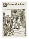 Sir Launcelot Defends the Door, Illustration from 'The Story of Grail and the Passing of Arthur' Giclee Print by Howard Pyle
