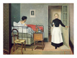 The Ill Child Giclee Print by Felix Edouard Vallotton