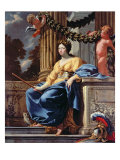 Allegorical Portrait of Anne of Austria, after 1643 Giclee Print by Simon Vouet