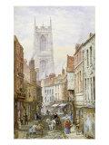 A View of Irongate, Derby Giclee Print by Louise J. Rayner