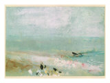 Beach with Figures and a Jetty. C.1830 Giclee Print by J. M. W. Turner