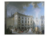 A Wedding Procession in Amiens Giclee Print by Gabriel De Saint-aubin