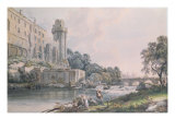 Caesar's Tower and Part of Warwick Castle Giclee Print by Paul Sandby
