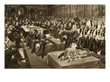The Coronation Oath- the First Parliament of King Edward Vii, from 'The Illustrated London News' Reproduction procédé giclée par Walter Wilson