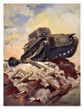 A First World War Tank Giclee Print by J. Allen Shuffrey