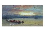 Shore Scene, Sunset Giclee Print by Joseph Mallord William Turner