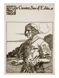 Sir Geraint, Son of Erbin, Illustration from 'The Story of Grail and the Passing of Arthur', C.1910 Giclee Print by Howard Pyle