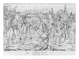 Death of General Desaix at the Battle of Marengo on 14th June 1800, after a Painting by Jean Broc,  Giclee Print by Ambroise Tardieu