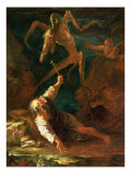 The Temptation of St. Anthony Giclée-tryk af Salvator Rosa