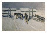 Wolfs, Winter Night, c.1910 Giclee Print by Alexei Steipanovitch Stepanov